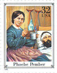 1994 stamp commemorating Phoebe Pember, a Confederate Civil War nurse.
