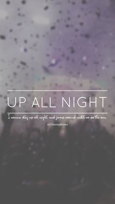 Up All Night // One Direction