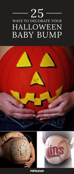 If you're rocking a happy, pregnant belly this Halloween and still searching for the perfect costume, then simply adding some body paint might be the perfect solution.