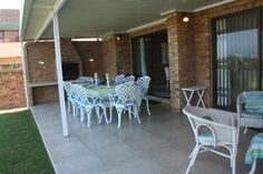 You can't beat white verandah furniture for a beach cottage Cottage Furniture, White Furniture, Cushion Fabric, Beach Cottages, Patio, Canning, Outdoor Decor, House, Home Decor