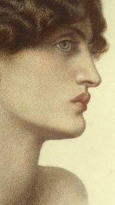 Jane Morris detail Perlascura, 1871, Dante Gabriel Rossetti