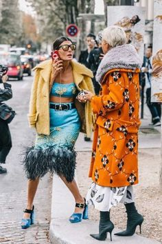 Fall Street Style Outfits to Inspire Fall street style / Fashion Week street style - My Accessories World Street Style Vintage, Street Style Chic, Street Style Outfits, Autumn Street Style, Street Style Looks, Mode Outfits, Fashion Outfits, Fashion Trends, Parisian Style