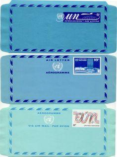 UN Telegrammes. #airmail #letters