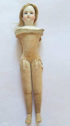 Simon & Halbig Wooden Covered Twill Body Fashion Doll c1880 from theluckyblackcat on Ruby Lane