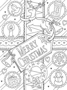 Merry Christmas Colouring Page