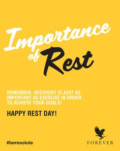 You wouldn't think so, but we realise how difficult rest days can be- yes, for real! When you've developed routine, days off can feel like a interruption to your routine but keep in mind they're just as important as any workout! Forever Living Clean 9, Forever Living Products, Fitness Nutrition, You Fitness, Clean9, Natural Facial, Natural Beauty, Healthy Life, Healthy Living