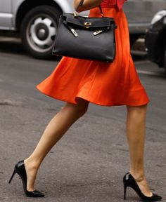 Black Kelly. Black stilettos.