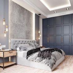 Bedroom Minimalist, Modern Master Bedroom, Modern Bedroom Design, Master Bedroom Design, Home Bedroom, Interior Design Living Room, Living Room Decor, Modern Design, Bedroom Furniture