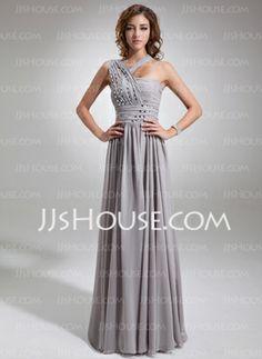 27fbb9b89b9b Floor-Length Chiffon Evening Dresses With Ruffle Beading Vestito  Aniconformista