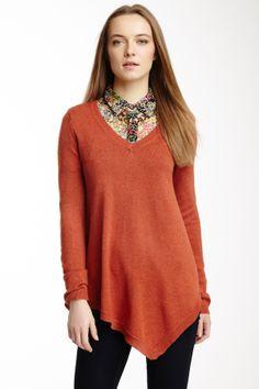 Silk Blend Hanky Hem Pullover