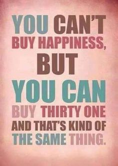 """Thirty-One = Happiness! <a class=""""pintag searchlink"""" data-query=""""%23pinkbagdiva"""" data-type=""""hashtag"""" href=""""/search/?q=%23pinkbagdiva&rs=hashtag"""" rel=""""nofollow"""" title=""""#pinkbagdiva search Pinterest"""">#pinkbagdiva</a>"""