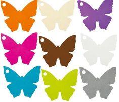 Marque Place Papillon Carton, 10 Marque Place Papillon Carton forme Papillon Blanc, Ivoire, Orange, Chocolat, Fuschia, Vert Anis, noir, Turquoise pour déco dragées, déco de table mariage, bapteme et fêtes.