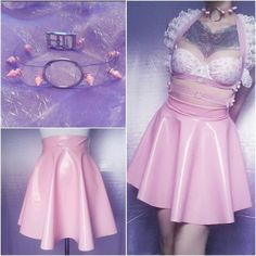 skirt clear choker lace harness pvc skirt etsy pink skirt necklace