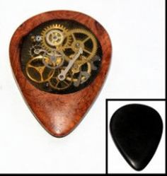 Steampunk guitar pick