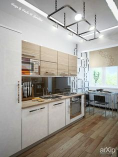 """Как проблема дала идею"": интерьер, квартира, дом, кухня, лофт, 10 - 20 м2 #interiordesign #apartment #house #kitchen #cuisine #table #cookroom #loft #10_20m2 arXip.com"