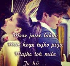 Jab we met. Romantic Song Lyrics, Best Song Lyrics, Song Lyric Quotes, Cool Lyrics, Romantic Love Quotes, Poetry Quotes, Music Quotes, Wisdom Quotes, Bollywood Quotes