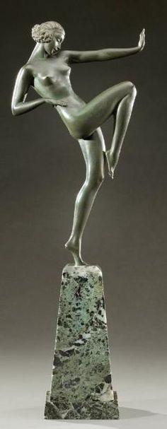 An Art Deco bronze by Pierre le Faguays, France circa 1930.