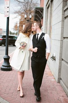 Post city-hall wedding photography
