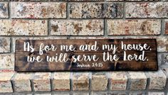 As for me and my house we will serve the Lord sign | Wood Sign | Wood Rustic Signs | Wall Decor | Rustic Signs | wedding gifts