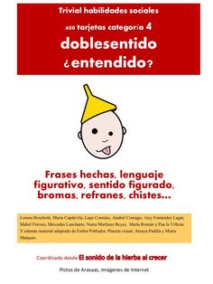 Trivial Doblesentidos by Anabel Cornago via slideshare Spanish Activities, Autism Classroom, Speech Therapy Activities, Aspergers, Emotional Intelligence, Social Skills, Special Education, Lesson Plans, My Tea