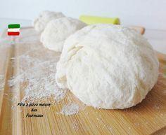 La vraie pâte à pizza maison,300gr farine,180gr eau,sel,5gr levure fraîche,3 cuill à soupe d'huile d'olive