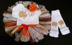 Thanksgiving 1st Birthday Girl Outfit by GraceCreationz on Etsy