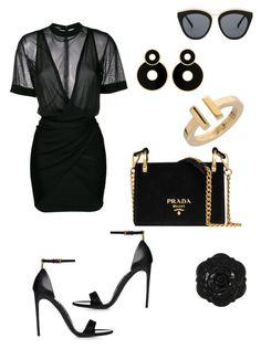 """Sin título #5"" by limastyle on Polyvore featuring moda, Balmain, Prada, Tiffany & Co., Le Specs y Swissco"