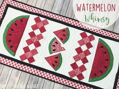 Fort Worth Fabric Studio: Watermelon Whimsy Table Runner