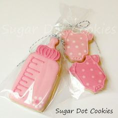 Sugar Dot Cookies: New Baby Sugar Cookies With Royal Icing
