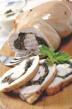 Receta Rollo de pavo con aceitunas y zanahorias