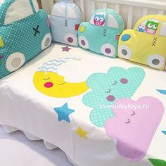 Photo - Artistic arrangement for tables handicrafts girls Baby Pillows, Kids Pillows, Quilt Baby, Baby Crafts, Diy And Crafts, Cot Bumper, Baby Bedroom, Baby Decor, Baby Sewing