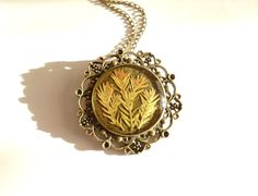 Real flower necklace Botanical necklace pressed by FloraBeauty, $19.00