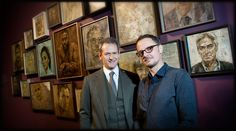 Alexander Armstrong and Jonathon Yeo at the http://www.twmuseums.org.uk/laing-art-gallery.html
