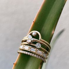 The bigger the stack, the better! Fine jewelry for your everyday, by Marrow Fine Jewelry Gem Hunt, Fine Jewelry, Jewelry Making, Right Hand Rings, Stacking Rings, Sparkle, Gems, Good Things, Jewels