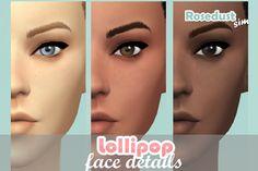 The Sims 4 Lollipop Face Details by RosedustSim