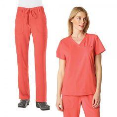 Sapphire Set in Rose is a combination of our fabulous Koi Cora Top and Koi Alicia Trousers. £59.99  #setscrubs #scrubs #uniforms #nursescrub #pinkscrubs #medicalscrubs