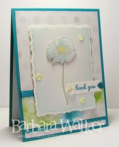 The Buzz: Thank You card created with products from Stampin' Up! sequins are from #PrettyPinkPosh