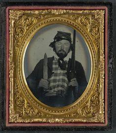 Civil War Confederate 9th Tennessee Cavalry Batallion Bowie Knife Shotgun