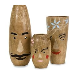 It would be fun to paint a vase for everyone in your household :)