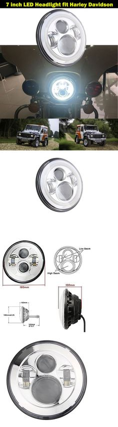 motorcycle parts: Chrome 7 Inch Round Led Projector Headlight Daymaker Hid For Harley Davidson -> BUY IT NOW ONLY: $58.39 on eBay!