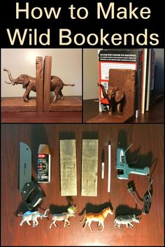 How to Make Wild Bookends  Add more fun into your book collection with this eccentric craft.