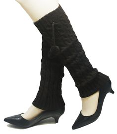 Brown Curve Ball Winter Knit Crochet Leg Warmers. These Leg Warmers are Made from Vinyl. These Leg Warmers Socks are Very comfortable and soft. Great to keep warm during the winter. Matches most outfits. Great for most occasions.