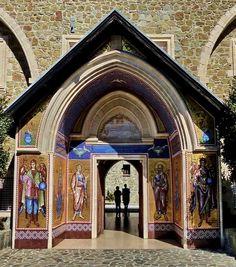 Entrance of Kykkos Monastery, Troödos Mountains, Cyprus   by Gisela Kr.