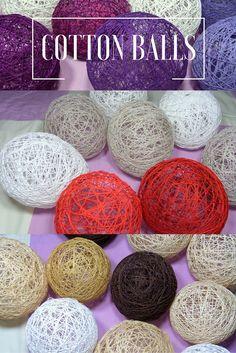 Cotton balls! Będą piękną i atrakcyjną dekoracją domu! Kliknij w zdjęcie po tutorial.  #dekoracje #cotton balls #diy