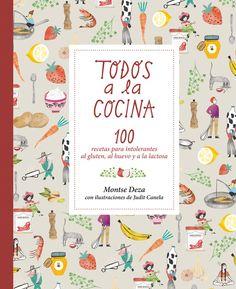 TODOS A LA COCINA 100 recetas pensadas para las familias con intolerantes al gluten, al huevo y a la lactosa. Tapas, salsas, arroces, ensaladas, carne, pescado, pasteles, postres, y mucho más. A parte de las recetas, el libro también incluye entrevistas a algunas de las asociaciones