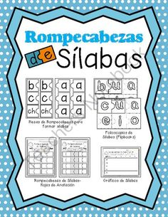 Rompecabezas de Sílabas-Spanish Sight Word Puzzles from Growing Bilingual Learners on TeachersNotebook.com (78 pages)  - Beginning learners will love playing with puzzle pieces while learning to read Spanish syllables!