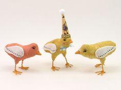 Vintage Inspired Spun Cotton Single Chick Figure/Ornament