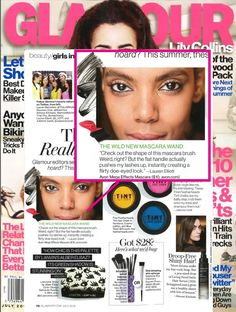 #MegaEffects mascara is featured in the July 2013 issue of Glamour.
