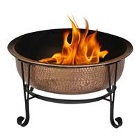 Relax and unwind in your backyard with the evening breeze and the warm glow of the fire from your CobraCo® Vintage 100-percent Copper Fire Pit.