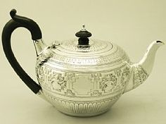 A fine and impressive antique Victorian English sterling silver teapot; an addition to our diverse silver teaware collection. SKU: W8629 Price: GBP £795.00 http://www.acsilver.co.uk/shop/pc/Sterling-Silver-Teapot-Antique-Victorian-49p6260.htm#.U7-i7EBXoUM